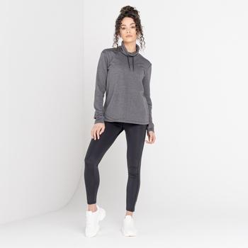 The Laura Whitmore Edit - Swoop Swarovski Embellished Sweater Charcoal Grey Marl
