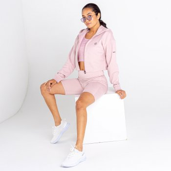 Dare 2b - Women's Lounge About Cropped Hoodie Violet Ice