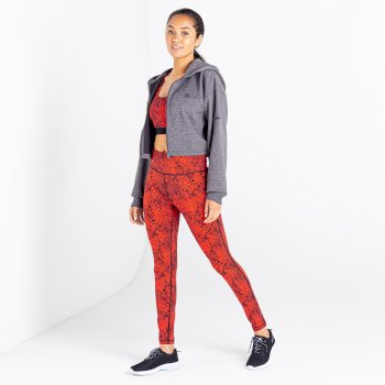 Women's Lounge About Cropped Hoodie Charcoal Grey Marl