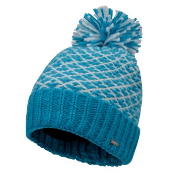 Women's Mystify Bobble Hat Fresh Water Blue White