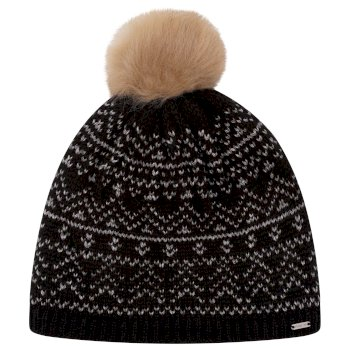 Dare 2b - Women's Adored Fleece Lined Faux Fur Bobble Beanie Black