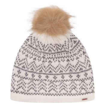 Dare 2b - Women's Adored Fleece Lined Faux Fur Bobble Beanie White