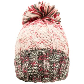 Damska czapka beanie Dare2B Headmost bordowa-szara