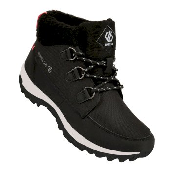 Women's Connix Lined Mid Boots Black Fiery Coral