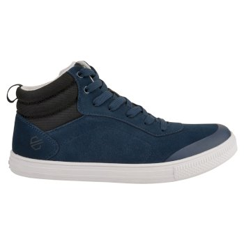 Women's Cylo High Top Suede Trainers Blue Wing