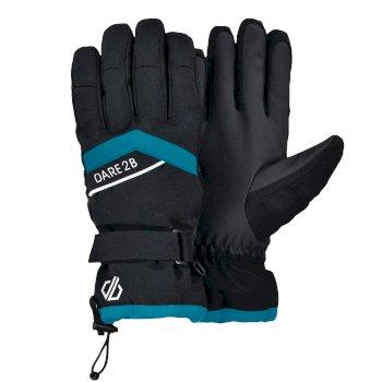 Damskie rękawice Dare2B Charisma czarne - niebieskie