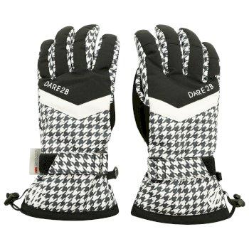 Damskie rękawiczki Dare2B Charisma białe-czarne