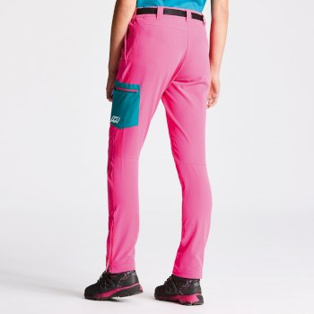 Women's Appressed Trousers Cyber Pink Shoreline Blue