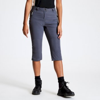Dare 2b - Women's Melodic II 3/4 Length Walking Trousers Ebony Grey