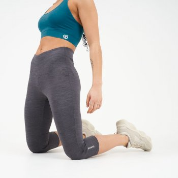 Dare 2b - Women's Influential 3/4 Length Leggings Charcoal Grey Marl