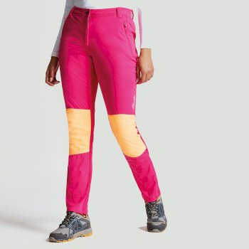 Women's Append Softshell Hybrid Trousers Pink Fusion Orange Burst