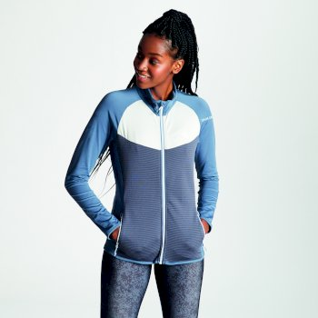 Dare 2b - Women's Allegiance Lightweight Core Stretch Midlayer Meteor Grey Quarry Grey