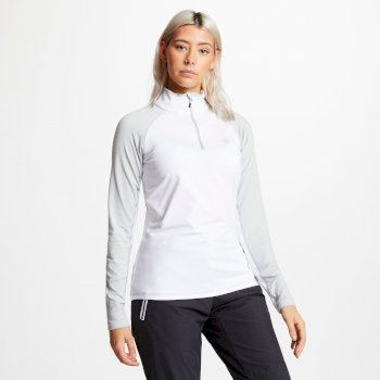 Dare 2b - Women's Involved Core Stretch Half Zip Midlayer White Argent Grey