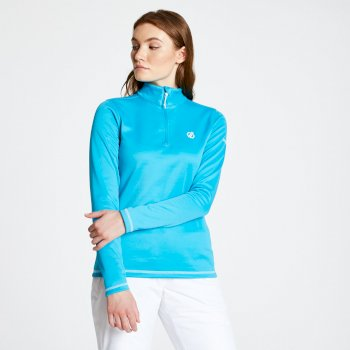 Dare 2b - Women's Lowline Core Stretch Half Zip Midlayer Fresh Water Blue