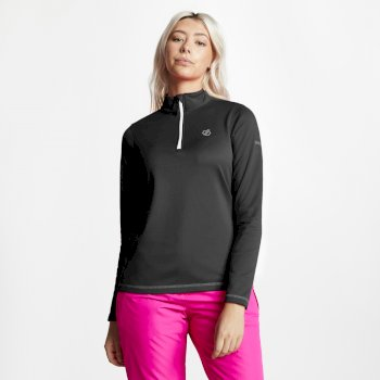 Dare 2b - Women's Lowline Core Stretch Half Zip Midlayer Black