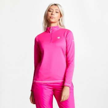 Dare 2b - Women's Lowline Core Stretch Half Zip Midlayer Cyber Pink