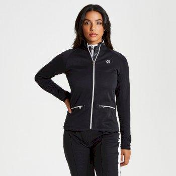 Women's Solaria Core Stretch Full Zip Luxe Midlayer Black