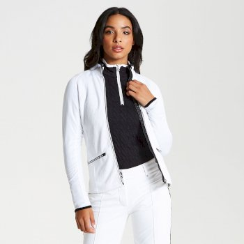 Women's Solaria Core Stretch Full Zip Luxe Midlayer White