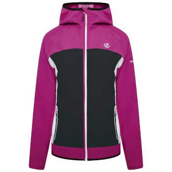 Dare 2b - Women's Duplicity Hooded Softshell Jacket Active Pink Black
