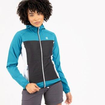 Dare 2b - Women's Duplicity Hooded Softshell Jacket Freshwater Blue Black