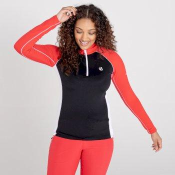 Dare 2b - Women's Involved II Half Zip Lightweight Core Stretch Midlayer Lollipop Red Black