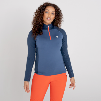 Dare 2b - Women's Involved II Half Zip Lightweight Core Stretch Midlayer Dark Denim Nightfall Navy