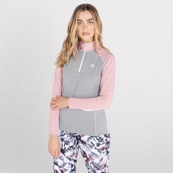 Damska bluza narciarska Dare2B Involved II różowa-szara