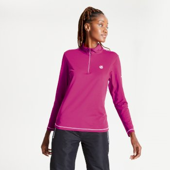 Dare 2b - Women's Lowline II Half Zip Lightweight Core Stretch Midlayer Active Pink