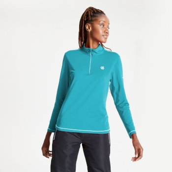 Dare 2b - Women's Lowline II Half Zip Lightweight Core Stretch Midlayer Azure Blue
