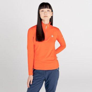 Damska bluza narciarska Dare2B Lowline II pomarańczowa