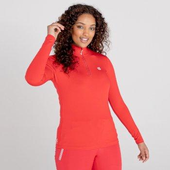 Damska bluza narciarska Dare2B Lowline II czerwona