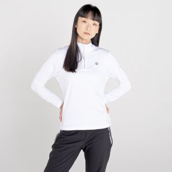 Dare 2b - Women's Lowline II Half Zip Lightweight Core Stretch Midlayer White