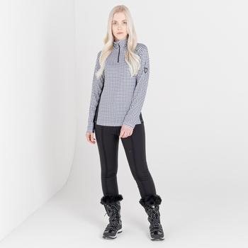 Damskie spodnie softshell Dare2B Sleek zdobione kryształkami Swarovski czarne
