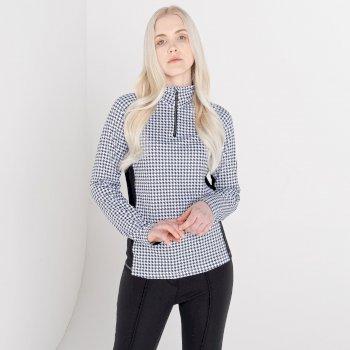 Damska bluza narciarska zdobiona kryształkami SwarovskiDare2B Outlast biała