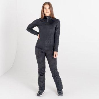 Damska bluza narciarska zdobiona kryształkami SwarovskiDare2B Outlast czarna