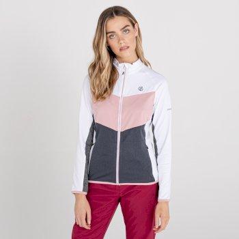 Dare 2b - Women's Elation Full Zip Core Stretch Midlayer White Powder Pink