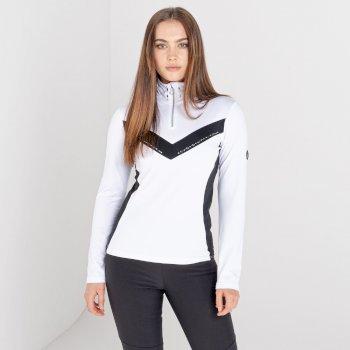 Damska bluza narciarska zdobiona kryształkami SwarovskiDare2B Bejewel II biała