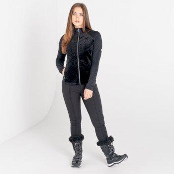 Damska bluza termoaktywna zdobiona kryształkami SwarovskiDare2B Stunning czarna