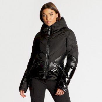 Damska ocieplana kurtka przeciwdeszczowa Dare2b Countess czarna x Julien Macdonald