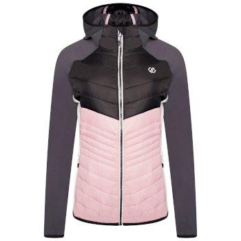 Dare 2b - Women's Nominate Wool Hybrid Hooded Baffled Jacket Powder Pink Black