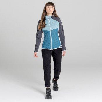 Dare 2b - Women's Nominate Wool Hybrid Hooded Baffled Jacket Dragonfly Green Cameo Green