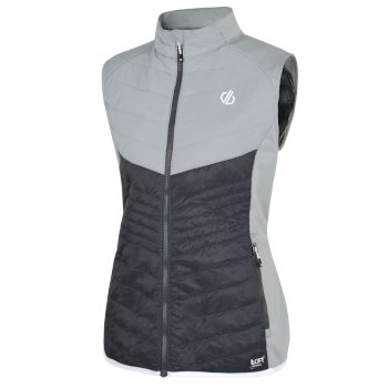 Dare 2b - Women's Nominate Wool Hybrid Baffled Vest Ebony Argent Grey