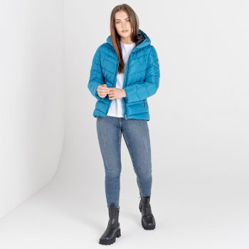 Dare 2b - Women's Reputable Insulated Quilted Hooded Luxe Jacket Dark Methyl
