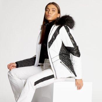 Damska kurtka narciarska Dare2b Emperor czarno-biała x Julien Macdonald