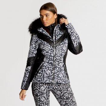 Damska kurtka narciarska Dare2b Emperor wężowy wzór x Julien Macdonald