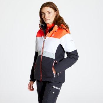 Dare 2b - Women's Avowal Ski Jacket Ebony White Fiery Coral