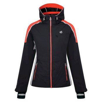 Dare 2b - Women's Inventor Ski Jacket Ebony Fiery Coral