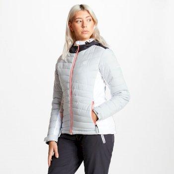 Damska pikowana kurtka narciarskia Dare2b Simpatico szara