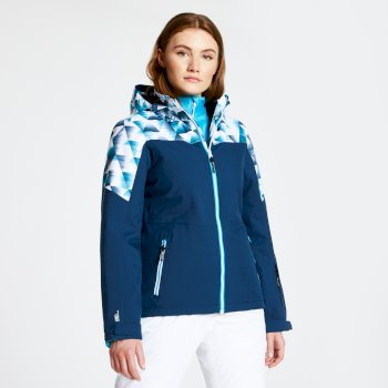 Dare 2b - Women's Purview Ski Jacket Blue Wing Kaleidascope