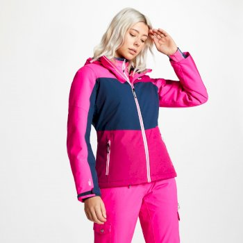 Women's Purview Ski Jacket Fuchsia Blue Wing Cyber Pink
